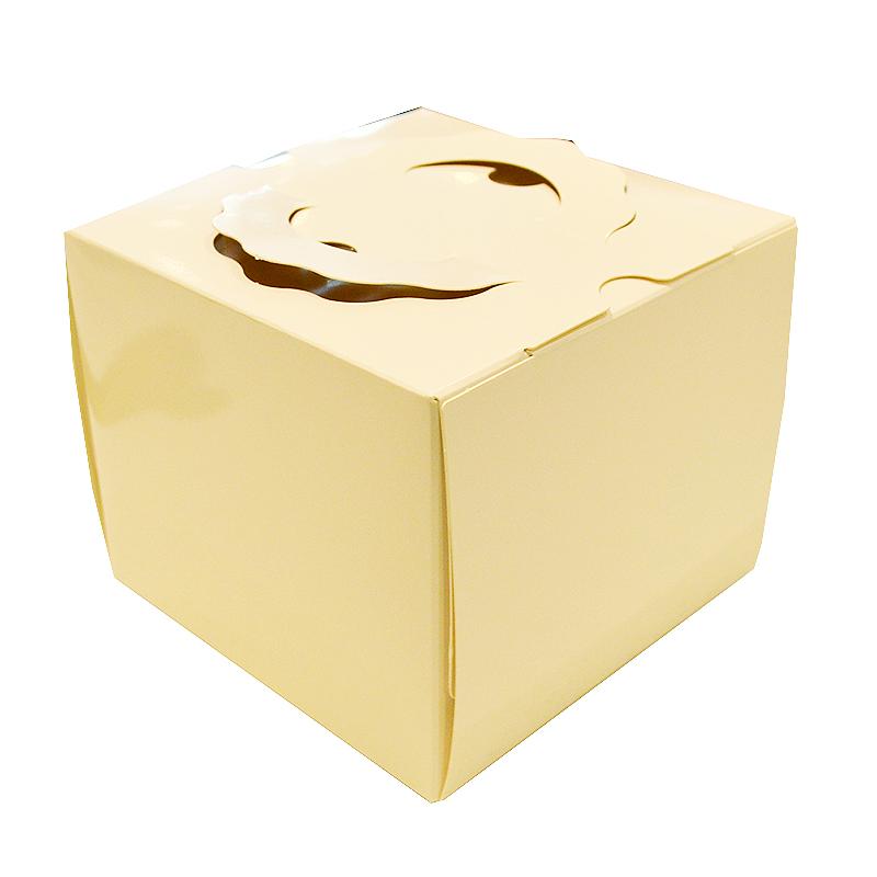 期間限定 12cmケーキ用 モデル着用&注目アイテム 高さ11.5cm ケーキ箱 手提げデコ 4寸 TD ホワイト