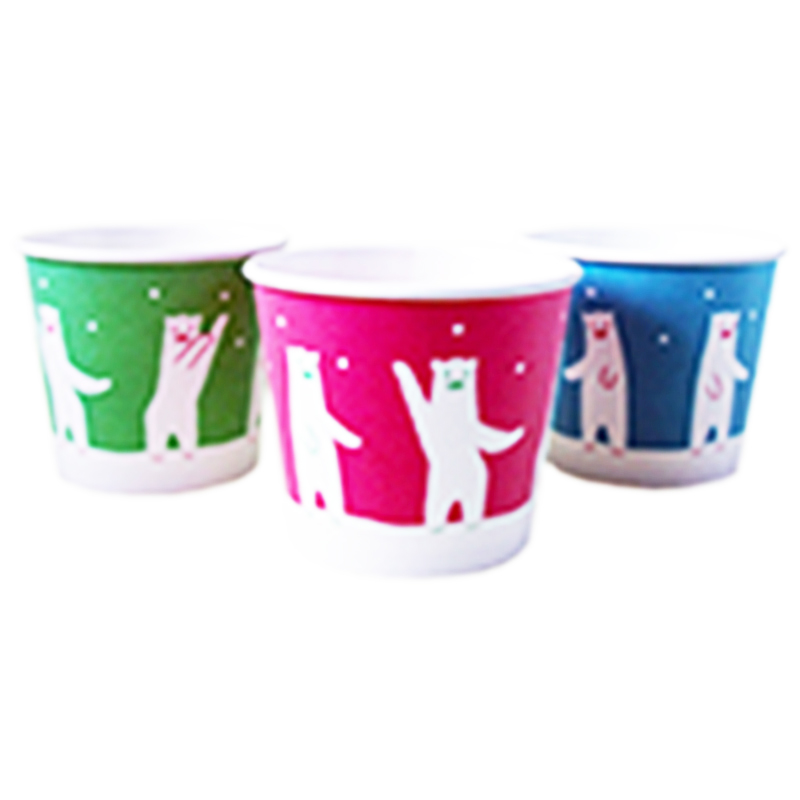 【ケース売】【注文後手配商品】氷カップ ダンシングベア 50入×20(かき氷)