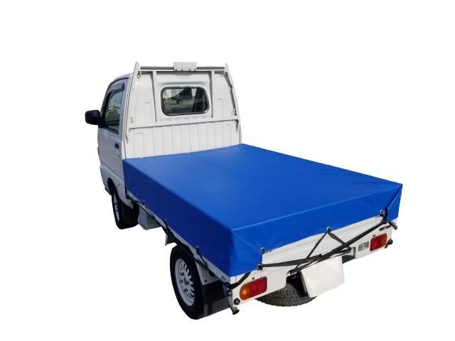 軽トラ/シート/荷台/平張り防水性・耐摩耗性に優れたエステル帆布6号製 軽トラック用荷台シート【全9カラー】