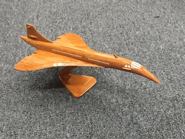 手作り木製模型 飛行機 コンコルド 小 PLA-055 *模型*