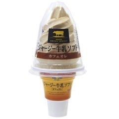 オハヨー乳業 ジャージー牛乳ソフト カフェオレ 16個入