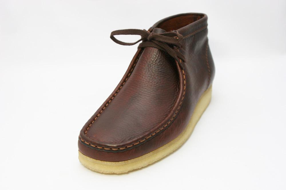 Clarks[クラークス]メンズ 455E ORIGINALS Wallabee Boot ワラビーブーツ/ブラウンレザー