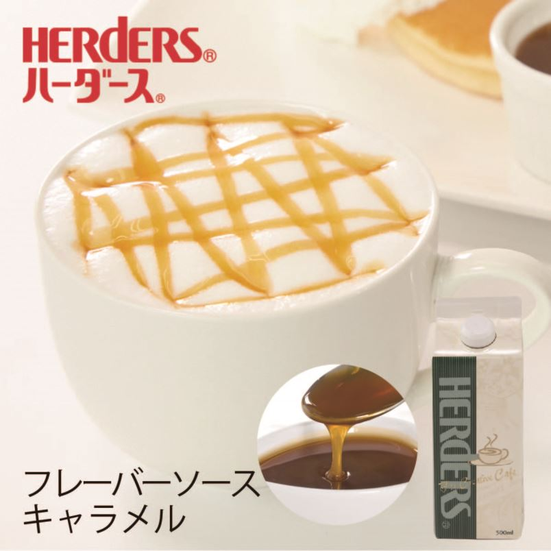 本物志向のカフェ用ソース ハーダース カフェ用フレーバーソースキャラメル 500ml ドリンク コーヒー アイス パンケーキ トッピング 直営ストア 保証 シロップ マキアート ラテ ミルク