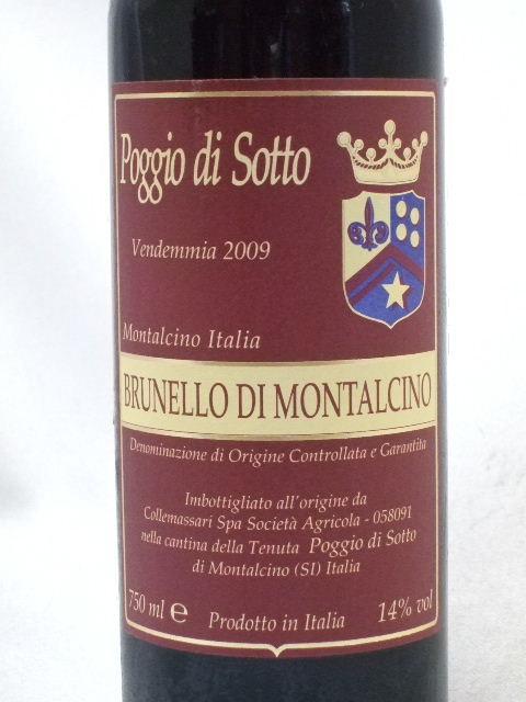 ブルネッロ・ディ・モンタルチーノ[2009]/ポッジョ・ディ・ソット