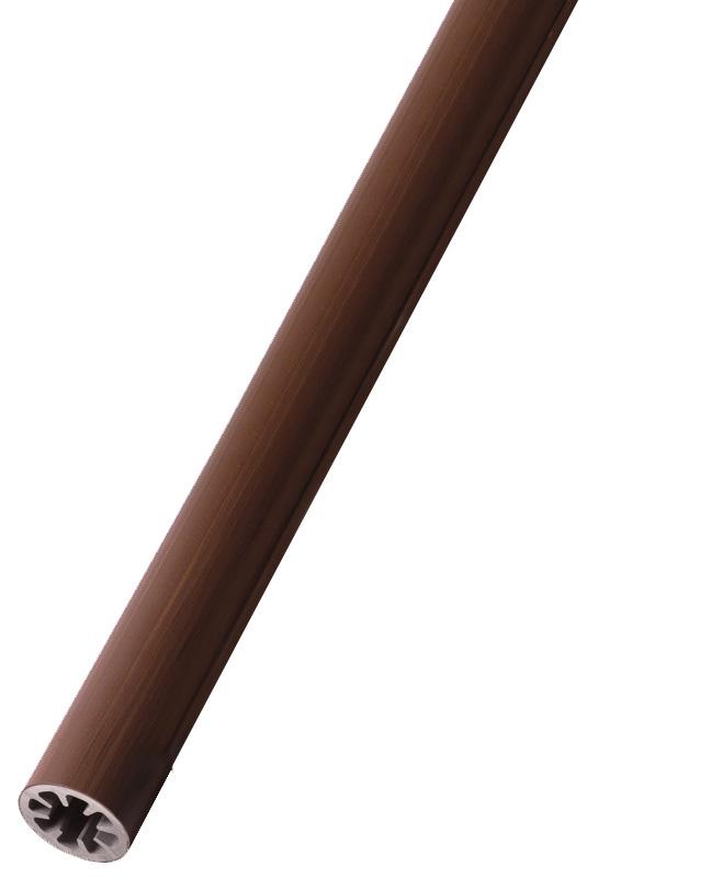 フリーRレール 直棒手すり2m BJ-22WD 木目ダーク【屋外 階段 廊下 玄関 取付 介護 福祉 手摺 売れ筋】