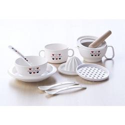 赤ちゃんの城 食器セット(トリコロール)
