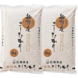 新潟県産こしひかり 12回コース 2袋 計10kg (毎月/1年) のし・包装不可