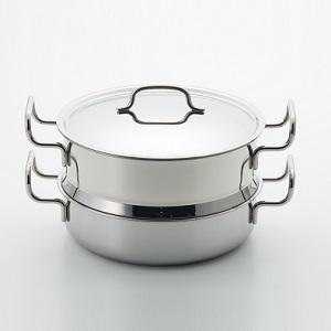 〈ジオ・プロダクト〉蒸し器付き鍋25cm