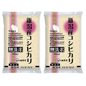 無洗米新潟県産こしひかり 12回コース 2袋 新作続 お買い得品 計10kg 毎月 1年