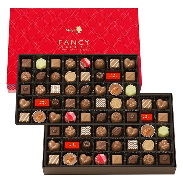 味みやげセレクション ギフト 贈り物 安全 送料無料(一部地域を除く) 80個 ファンシーチョコレート メリーチョコレート
