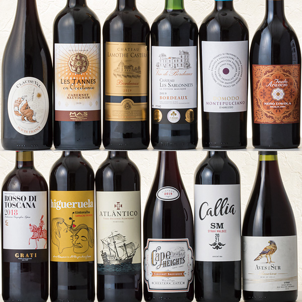 5つの金賞受賞したワイン含むボルドー金賞赤ワイン12本セット