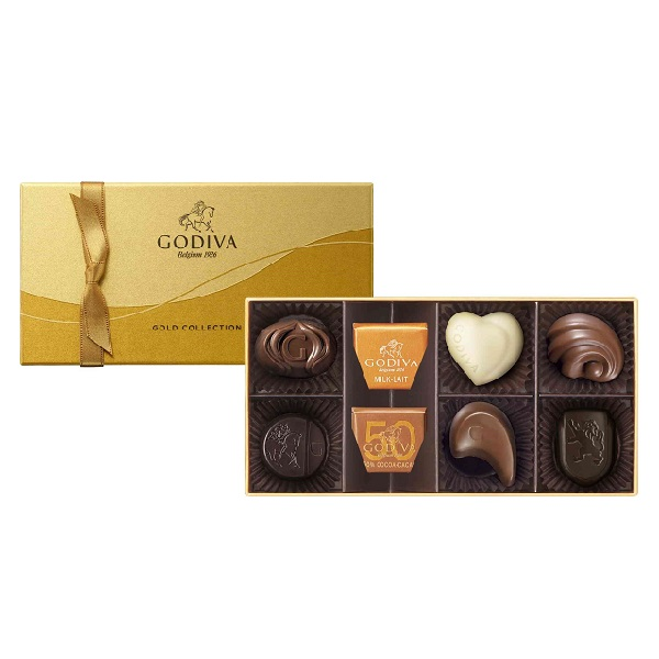 安心と信頼 内祝 御祝い返しに 捧呈 ギフト 贈り物 ゴールドコレクション 8粒入 ゴディバ