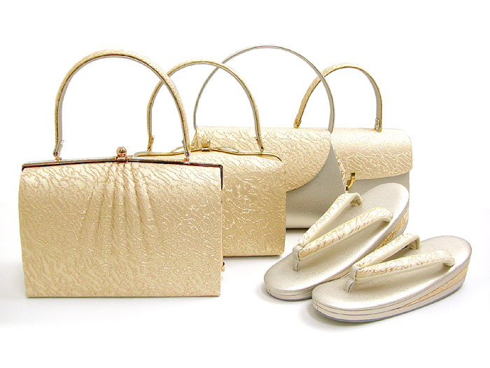 着物 バッグ 草履 バッグセット ゴールドバージョン Robe De' collete' e 選べるバッグ全10種&草履5サイズ ローブデコルテkimono PP