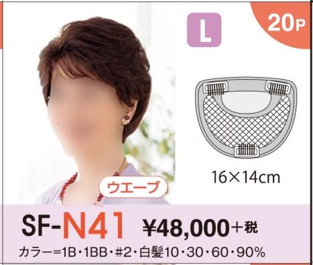 【送料無料】 レオンカ ハイパック(部分ウイッグ) SF-N41