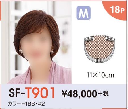【送料無料】 レオンカ ハイパック(部分ウイッグ) SF-T901