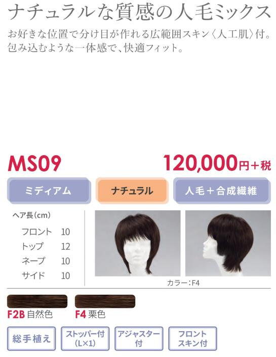 【送料無料】フォンテーヌ ウィッグ MS09