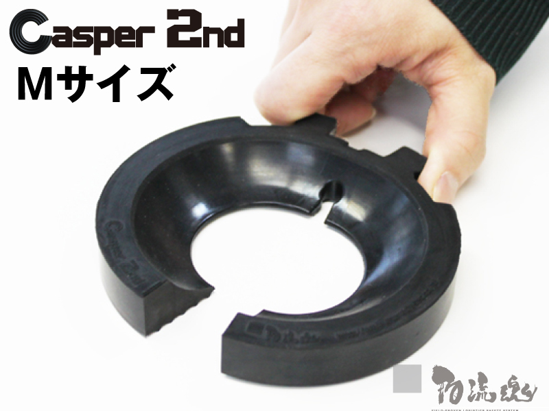 キャスパー2ndジェネレーション 70φ~100φキャスター対応 Mサイズ ブラック キャスターストッパー セール商品 完全送料無料 車輪止め 安全対策 台車補助用品 マルイチ 物流資材