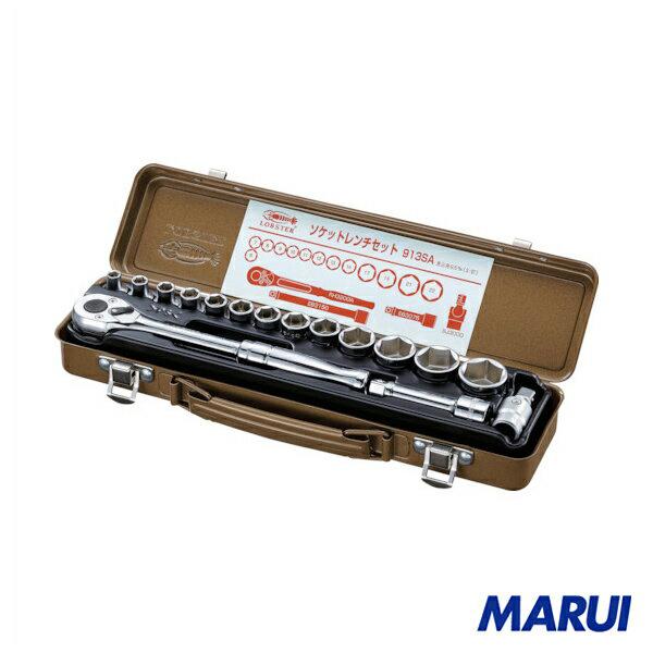 エビ ソケットレンチセット 差込角9.5mm 6角 1個 913SA 【DIY】【工具のMARUI】