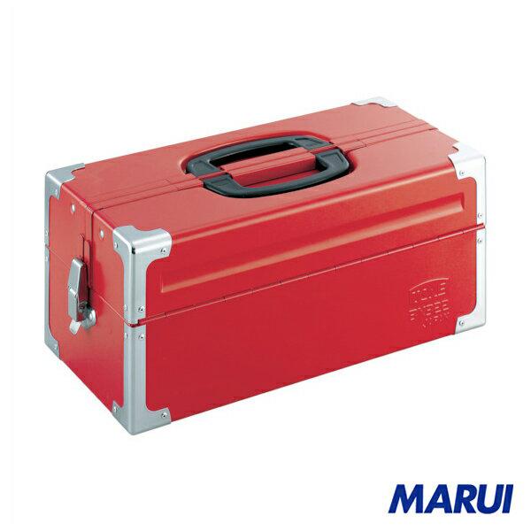 TONE ツールケース(メタル) V形2段式 433X220X195mm レッド 1個 BX322 【DIY】【工具のMARUI】
