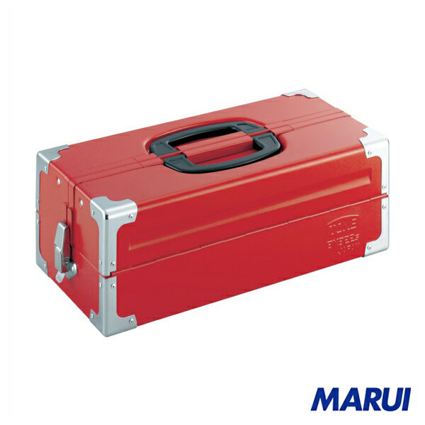 TONE ツールケース(メタル) V形2段式 433X220X160mm レッド 1個 BX322S 【DIY】【工具のMARUI】