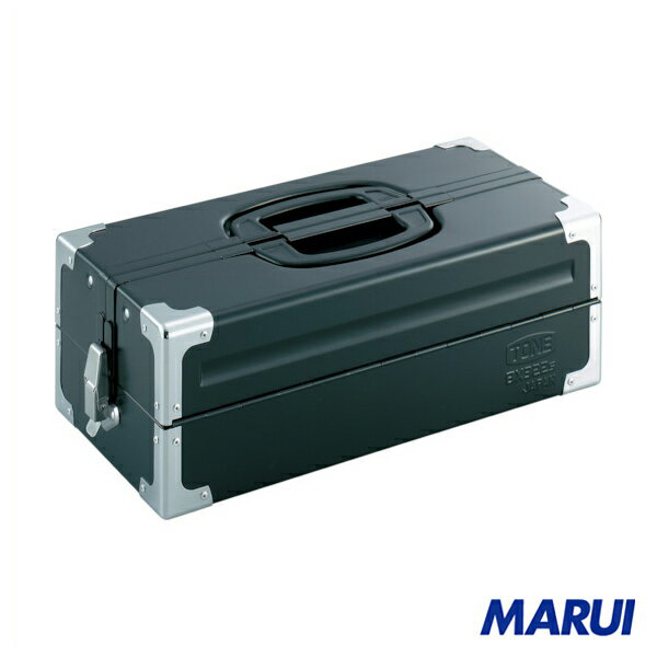 TONE ツールケース(メタル) V形2段式 マットブラック 1個 BX322SBK 【DIY】【工具のMARUI】