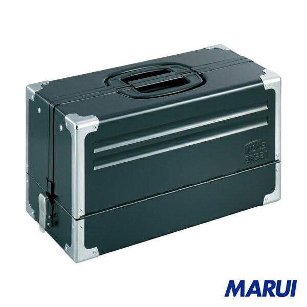 TONE ツールケース(メタル) V形3段式 マットブラック 1個 BX331BK 【DIY】【工具のMARUI】