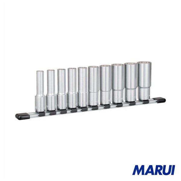 TONE ディープソケットセット(12角・ホルダー付) 1S HDL410 【DIY】【工具のMARUI】