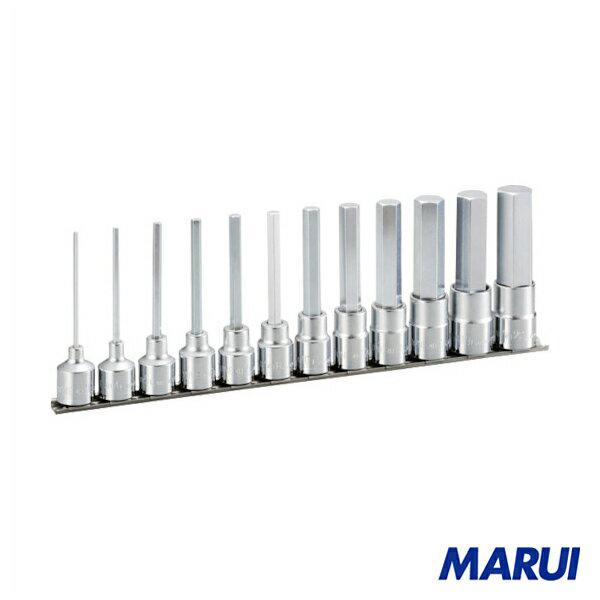 TONE ロングヘキサゴンソケットセット(ホルダー付) 12pcs 1S HH412L 【DIY】【工具のMARUI】