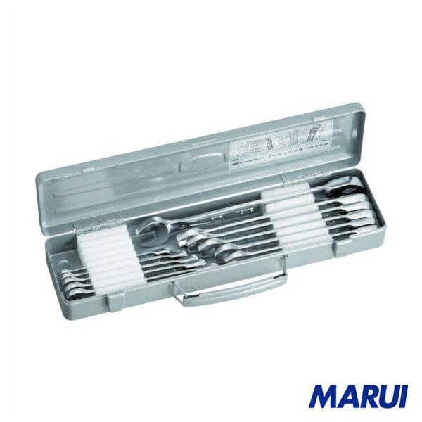 TONE 切替式ラチェットめがねレンチセット 10pcs 1S 【DIY】【工具のMARUI】