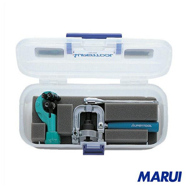 スーパー フレキ管ツバ出し工具(ラチェットハンドル式)・カッターセット 1S THS406R 【DIY】【工具のMARUI】