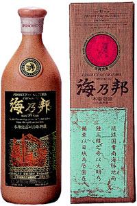 s【送料無料3本入りセット】(沖縄)海乃邦 10年貯蔵古酒 43度 720ml 箱入り 芋焼酎