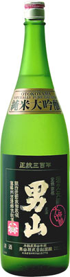 s【送料無料】ギフトに最適な木箱入り男山 純米大吟醸 1800ml