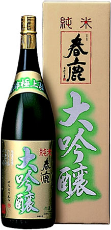 s【送料無料6本セット】(奈良)春鹿 純米大吟醸 1800ml