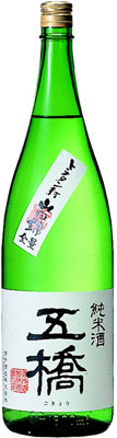 s【送料無料6本入りセット】(山口)五橋 純米酒 1800ml
