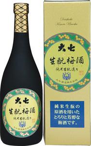 s【クール便送料無料6本入りセット】大七 生もと梅酒 720ml