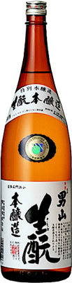 s【送料無料6本セット】男山 生もと 本醸造 1800ml