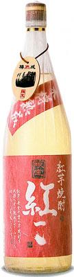 s【送料無料6本セット】木樽熟成紅芋焼酎紅一点 28度 芋焼酎 1800ml