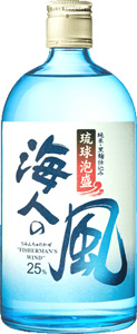 s【送料無料12本セット】海人の風 琉球泡盛 25度 720ml