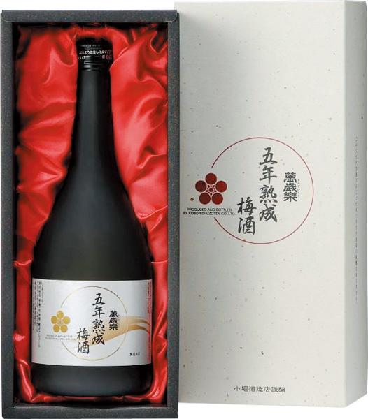 s【送料無料6本入りセット】萬歳楽 五年熟成梅酒 720ml