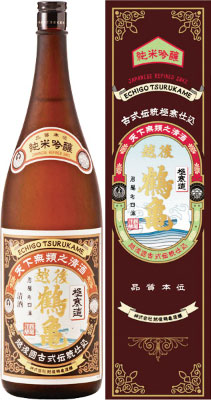 s【送料無料6本入りセット】越後鶴亀 純米吟醸 1800ml