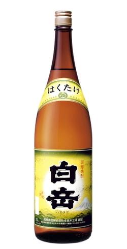 s【送料無料6本入りセット】白岳 25度 1800ml