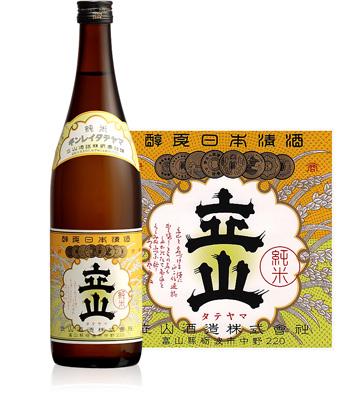 s【送料無料12本セット】立山 純米酒 720ml