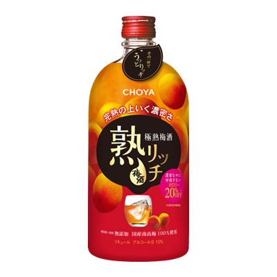 s【送料無料12本入りセット】チョーヤ 極熟梅酒 熟リッチ 720ml アルコール分:10%