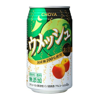 s【送料無料48本入りセット】チョーヤ梅酒 ウメッシュ 缶 350ml アルコール分:4%