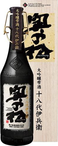 s【送料無料6本入りセット】奥の松 十八代伊兵衛 大吟醸雫酒 720ml 奥乃松