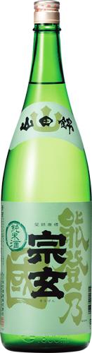 s【送料無料6本入りセット】(石川)宗玄(そうげん)純米酒 能登乃国 1800ml
