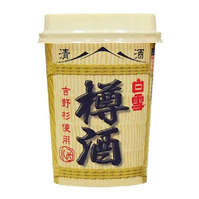 s【送料無料40本入りセット】(兵庫)白雪 樽酒カップ 180ml