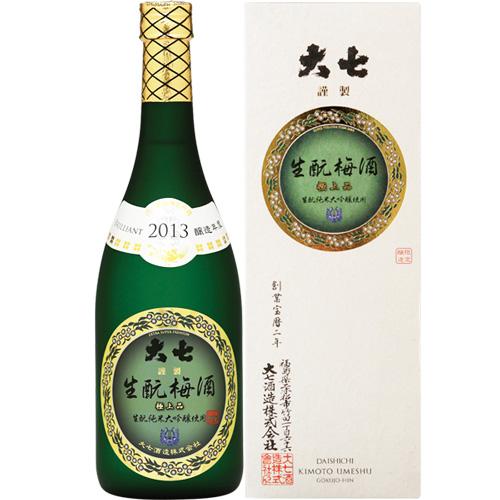 s【送料無料6本入りセット】(福島)大七 生もと梅酒極上品 720ml 【アル度】11度台