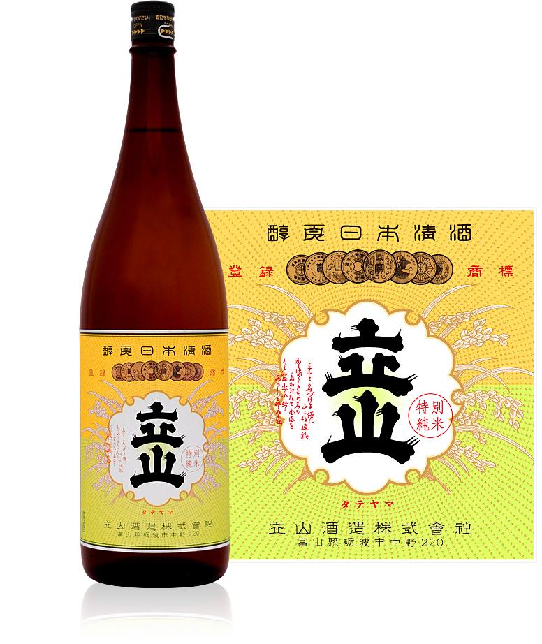 s【送料無料6本セット】立山 特別純米酒 1800ml