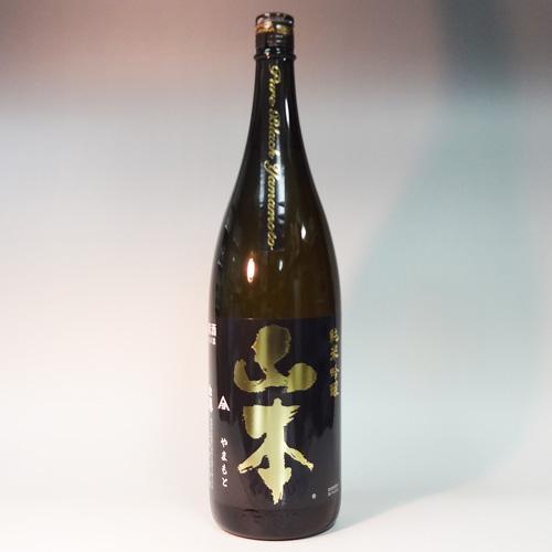 s【送料無料6本セット】(秋田)白瀑 山本 純米吟醸 1800ml 潤黒ピュアブラック